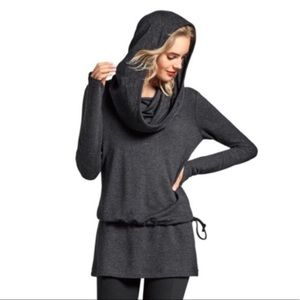 CAbi Recess Topper cowl neck hoodie